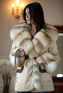 Jacket with fur - style 106