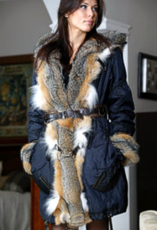 Jacket with fur - style 109