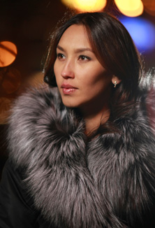 Coat with fur - style 46 K/