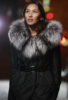Jacket with fur - style 53