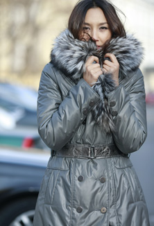 Coat with fur - style 56