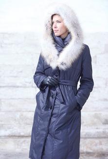 kabát s kožešinou - model 614