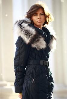 Kabát s kožešinou - model 62