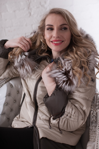 Anorak with fur -  style 106 N