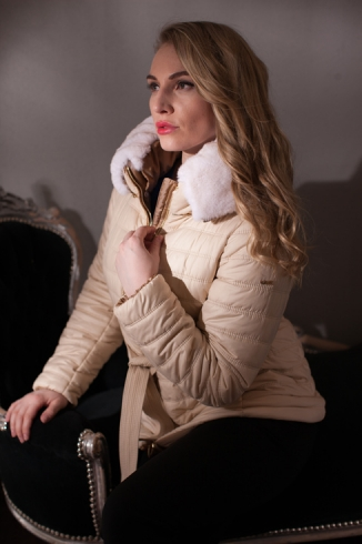 Anorak with fur -  style 108 N