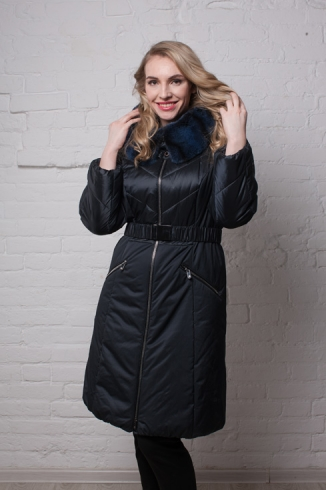 Coat with fur -  style 111 N