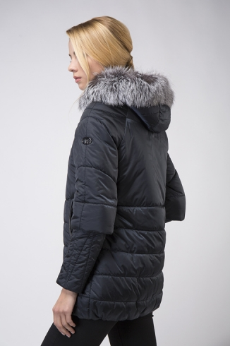 Coat with fur -  style 119 N