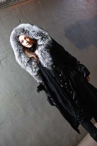 Coat with fur - style 27