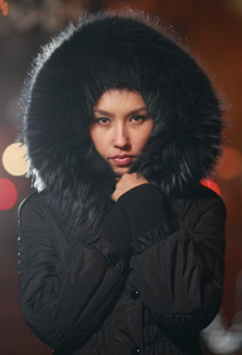 Kabát s kožešinou - model 520