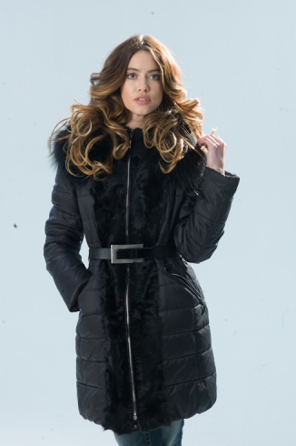 Coat with fur - style 72