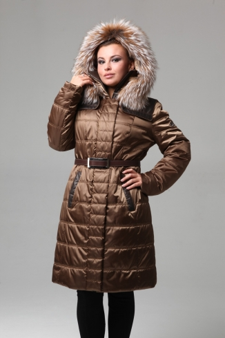 Coat with fur - style 910
