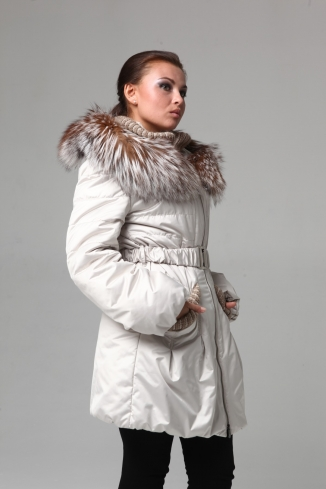 Kabát s kožešinou - model 919/ Není skladem