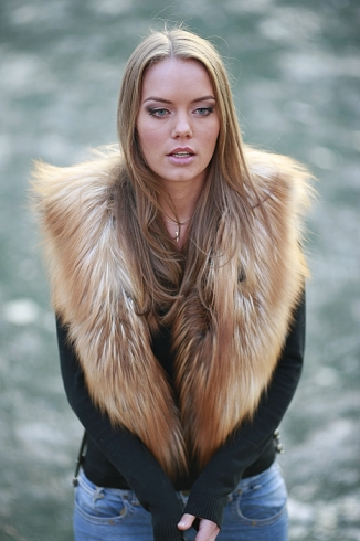 Fur vest - style 901 v