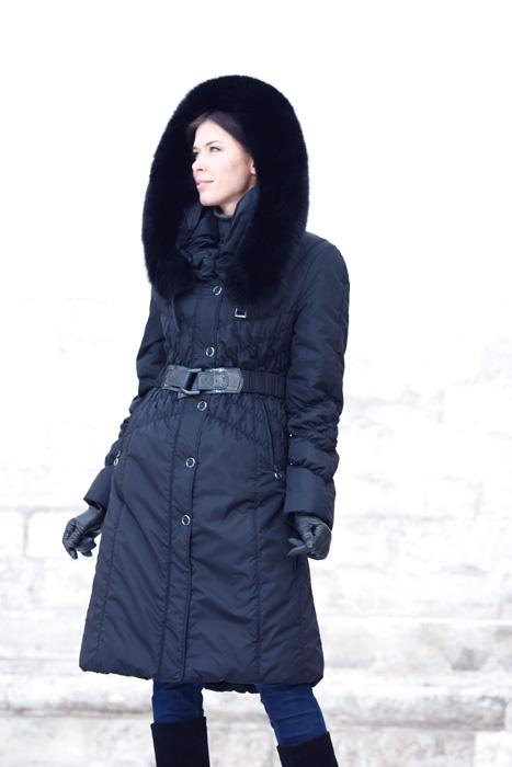 24f68b1e0f3 Kabát s kožešinou - model 62 - - Bundy a kabáty s pravou kožešinou  DiStyleLAB